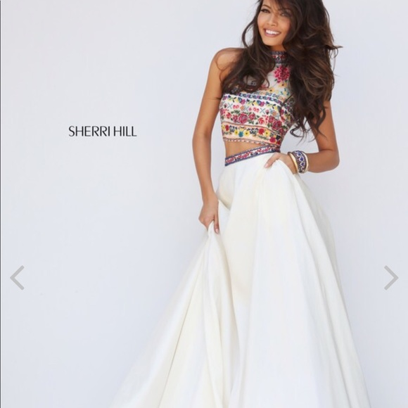 0cbf404824c9 Sherri Hill Boho Prom Dress Size 4. M_5c4ca6a62e1478bc8d2f0c63